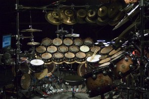Terry Bozzio's drumstel