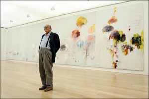 Cy Twombly bij  Cy Twombly Gallery in Houston-