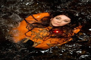 Kate Bush in water tank