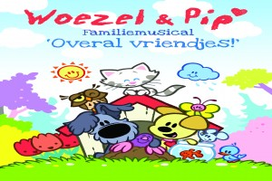 Poster Woezel & Pip: Overal vriendjes