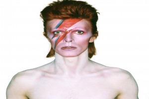 Album cover shoot for Aladdin Sane, 1973 Design by Brian Duffy and Celia Philo, make up by Pierre La Roche