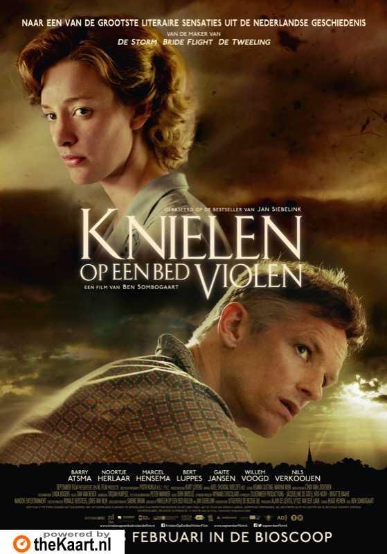 Knielen op een bed violen poster, � 2016 September