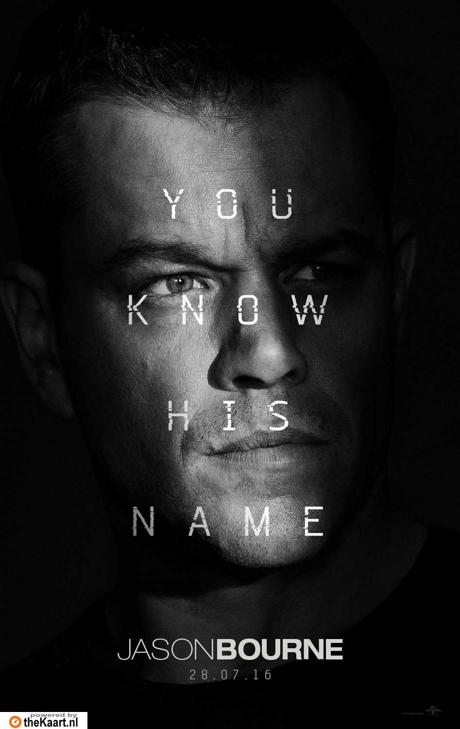 Jason Bourne poster, � 2016 Universal Pictures International