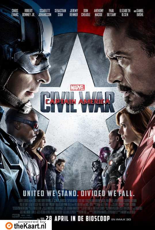 Captain America: Civil War poster, � 2016 Walt Disney Pictures