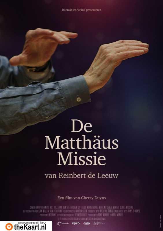 De Matth�us missie van Reinbert de Leeuw poster, copyright in handen van productiestudio en/of distributeur