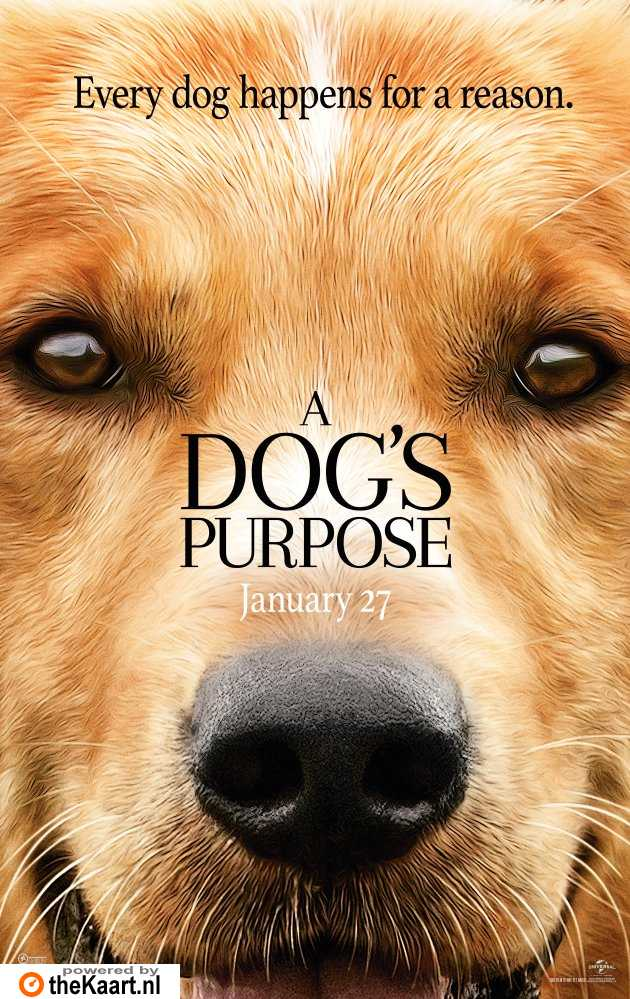 A Dog's Purpose poster, © 2017 Entertainment One Benelux