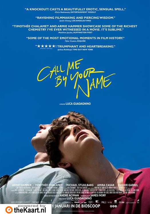 Call Me by Your Name poster, © 2017 Universal Pictures International