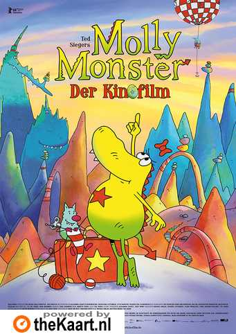 Ted Sieger's Molly Monster - Der Kinofilm (NL) poster, copyright in handen van productiestudio en/of distributeur
