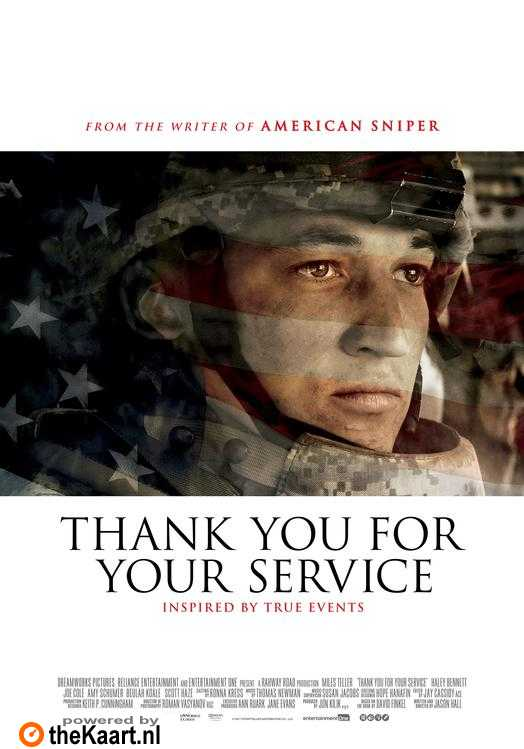 Thank You for Your Service poster, © 2017 Entertainment One Benelux