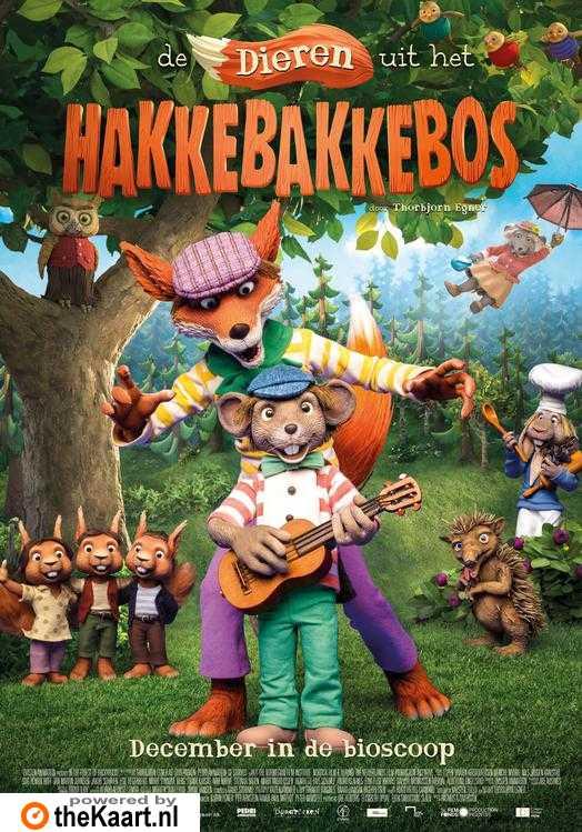 Dyrene i Hakkebakkeskogen poster, © 2016 Just Film Distribution