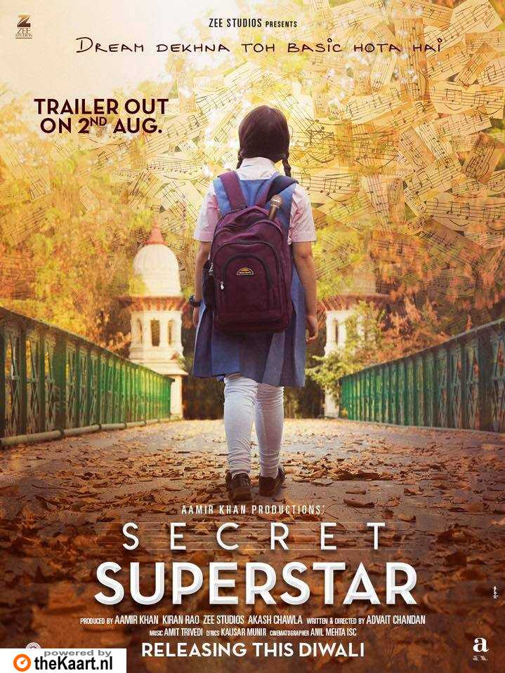 Secret Superstar poster, copyright in handen van productiestudio en/of distributeur