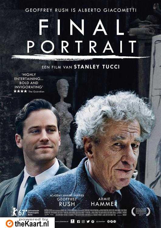 Final Portrait poster, copyright in handen van productiestudio en/of distributeur