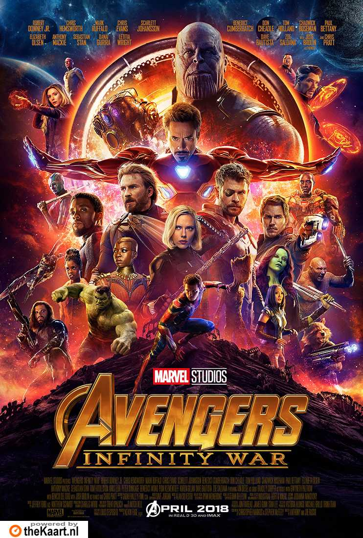 Avengers: Infinity War Part 1 3D poster, © 2018 Walt Disney Pictures