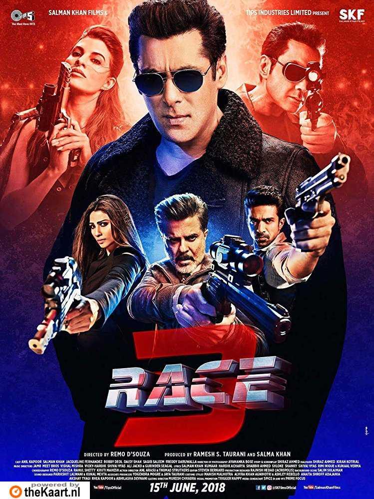 Race 3 poster, copyright in handen van productiestudio en/of distributeur