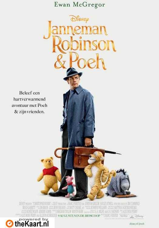 Janneman Robinson & Poeh (NL) poster, © 2018 Walt Disney Pictures