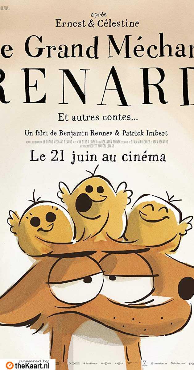 De grote boze vos & andere verhalen poster, copyright in handen van productiestudio en/of distributeur