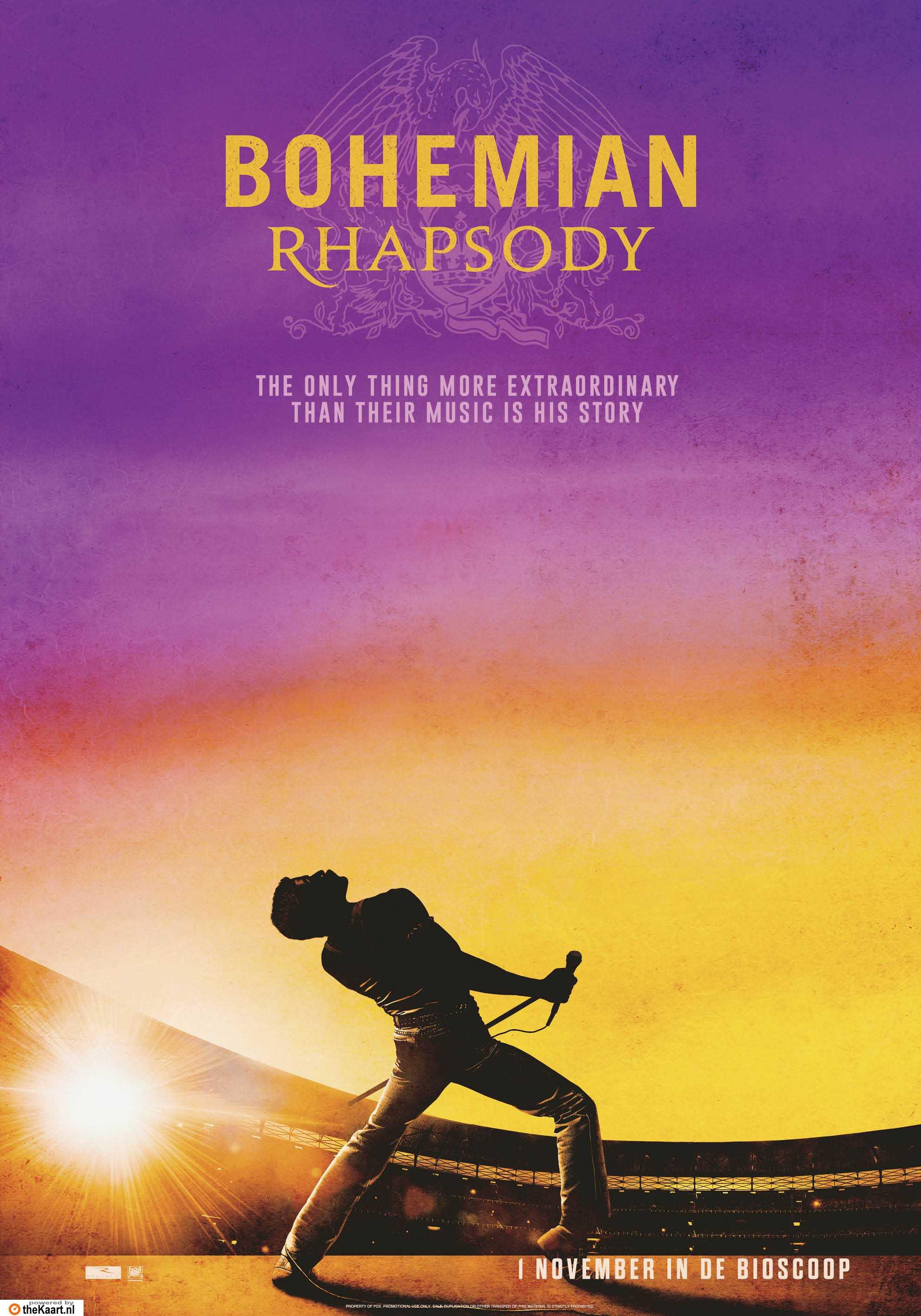 Bohemian Rhapsody poster, © 2018 20th Century Fox