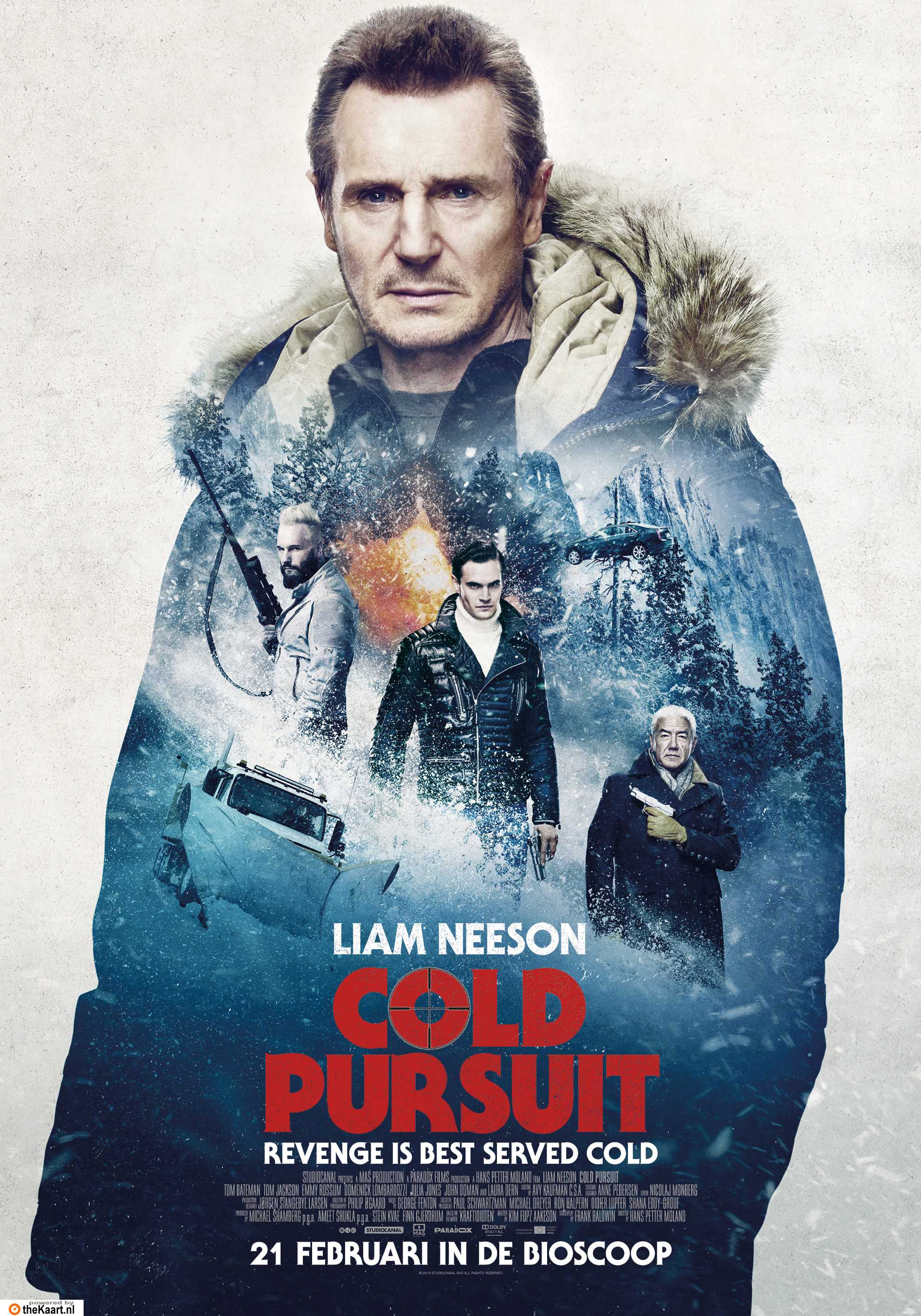 Cold Pursuit poster, © 2019 The Searchers