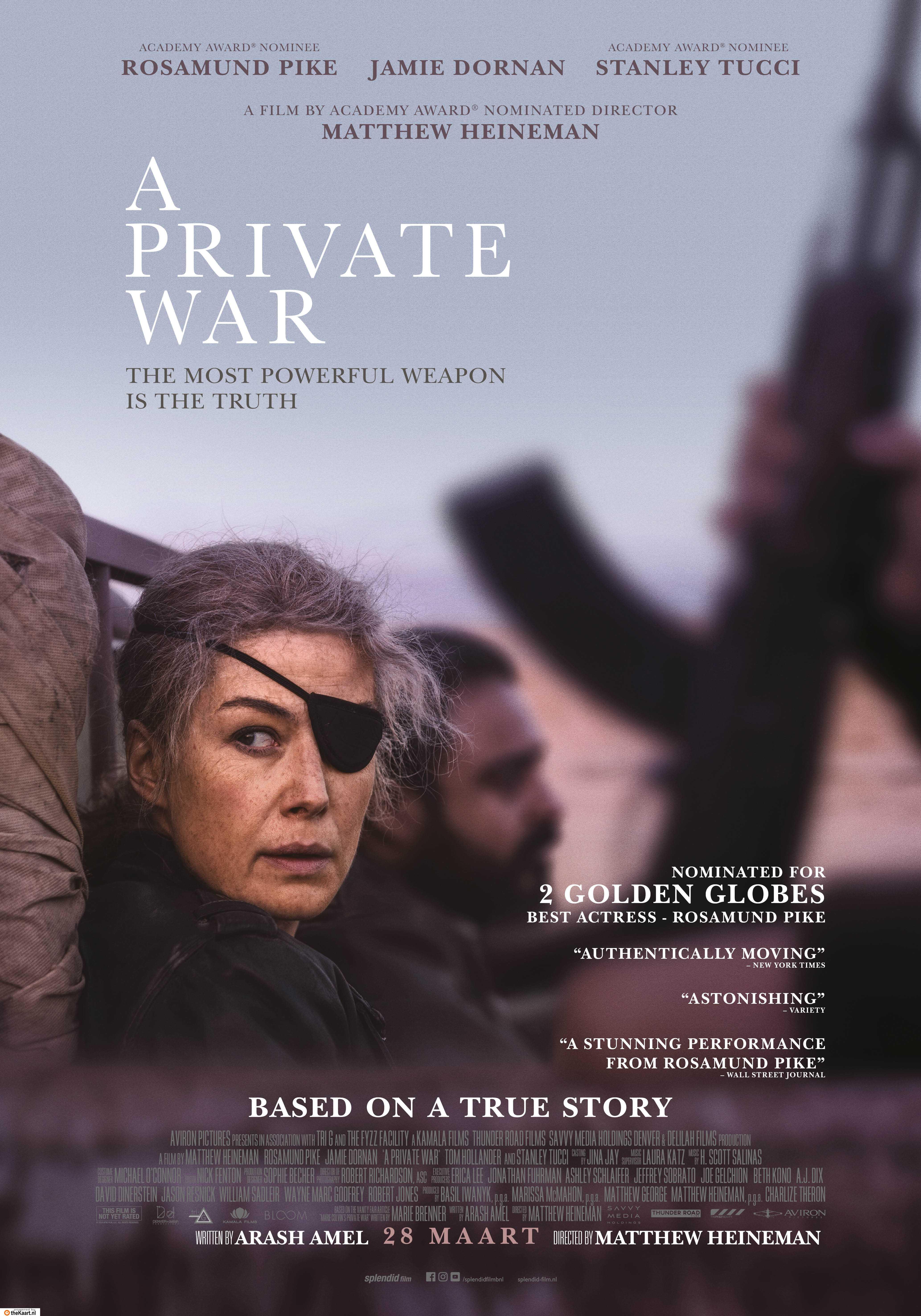 A Private War poster, © 2018 Splendid Film