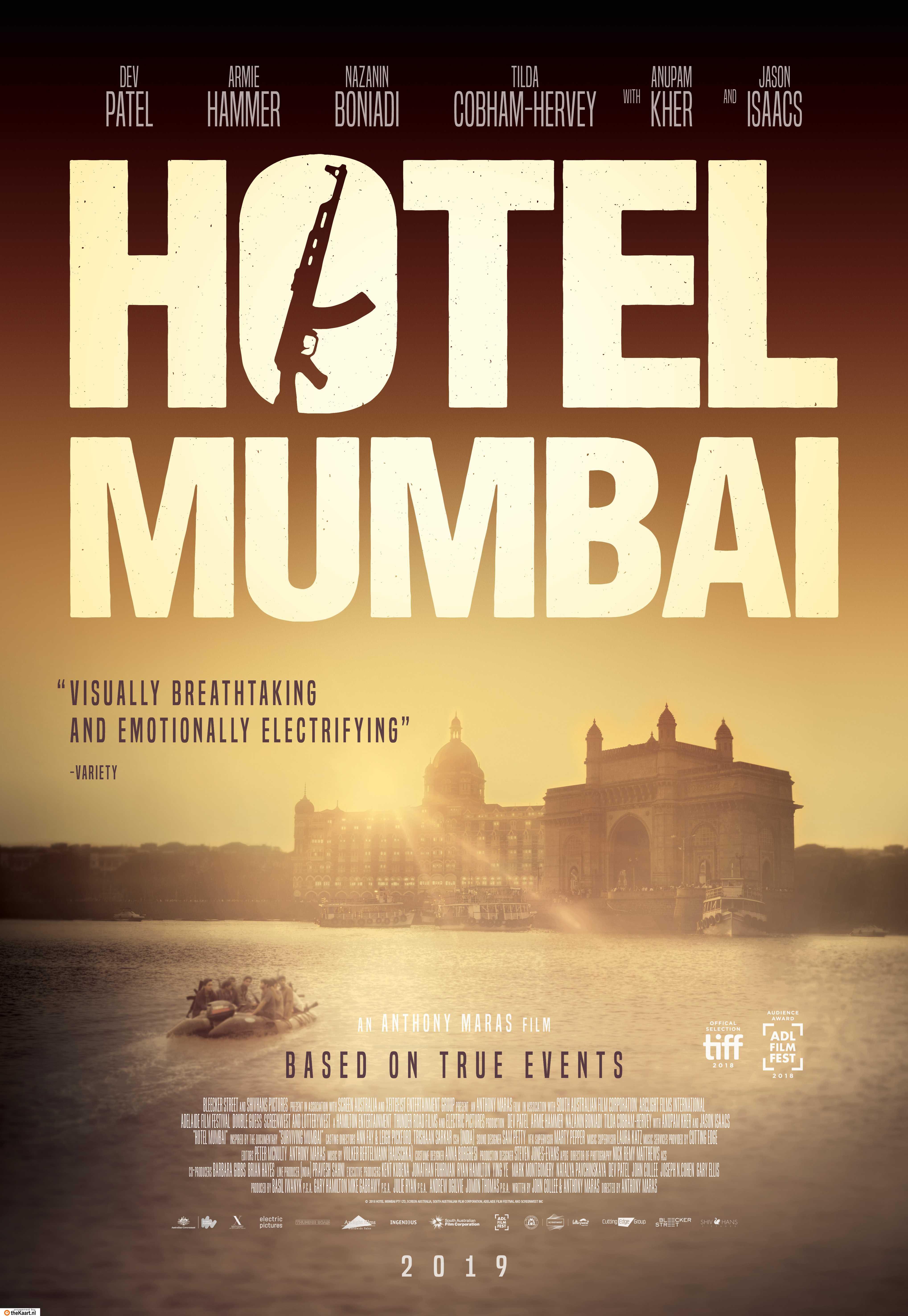 Hotel Mumbai poster, © 2018 WW entertainment